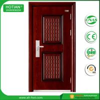 Best exterior steel security door with glass/iron design stronger steel door wholesale