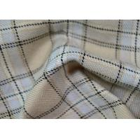 Best Comfortable 100 Polyester Fabric / Yarn Dyed Plaid Fabric For Garments wholesale