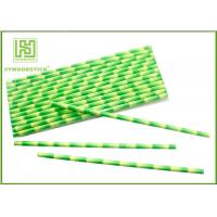 Best Eco - Friendly Bamboo Paper Straws , Birch Wood Design Green Decorative Paper Straws wholesale