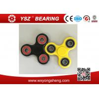 Best Black / Yellow Hand Spinner Fidget Toy / Tri Spinner With 608 Bearings wholesale