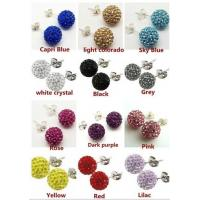 Best Custom Costume Jewellery Crystal Beaded Shamballa Drop Earrings Making wholesale