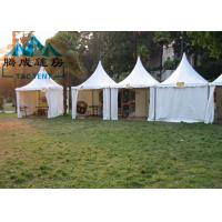 Best Aluminum Frame Pagoda Canopy Tent 5x5M 6x6M With Double PVC Coated Polyester Textile wholesale