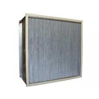Buy cheap Portable Mini - pleat  low initial resitance High Temperature air hepa filter for  terminal filtration from wholesalers