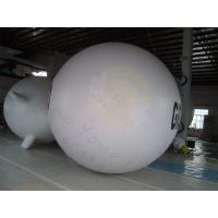 Cheap Huge Inflatable Zeppelin Air Balloon White Elastic UV Protected Printing for sale