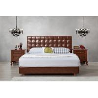 Best Leather / Fabric Upholstered Headboard Bed for Apartment Bedroom interior fitment by Leisure Furniture with Wooden table wholesale