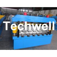 China 1060mm Trapezoidal Roof Sheet Roll Forming Machine With C r 12 Cutting Blade on sale