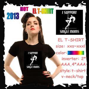 China High Quality el flashing t-shirt on sale
