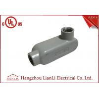 Best UL Standard PVC Coated Aluminum LL Conduit Body With Screws , Gray color wholesale