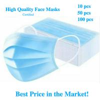 Best Earloop Style Blue Non Woven Face Mask , Surgical Grade 3 Layer Face Mask wholesale