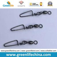 Best Standard Black Rolling Swivel with Good Quality Snap Carp Fishing Swivel Connectors wholesale