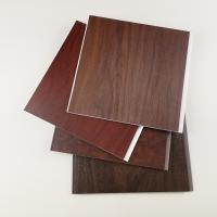 China High Quailty Dark Wooden Color PVC Wall Panels for Hotel or Home on sale
