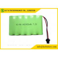 Best 2400mah 7.2V Nickel Metal Hydride Battery AA NIMH Battery Pack Long Service Life wholesale