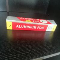 China Household aluminum foil roll in oven for food on sale