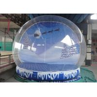 Cheap Waterproof Christmas Blow Up Snow Globe , Inflatable Lawn Snow Globe High Safety for sale