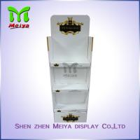 Best Floor Stand White Custom Cardboard Displays For Advertising , Assembling wholesale