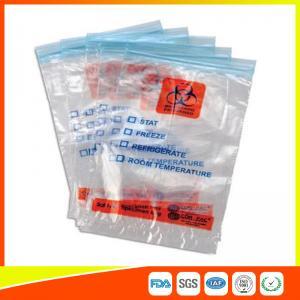 Best Zip Seal Medical Transport Bags For Hospital , Biohazard Ziplock Bags wholesale