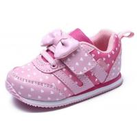Best Soft Bottom Pink Little Kids Shoes Baby Girl Shoes Breathable EUR 21-25 Size wholesale