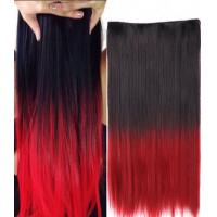 China No Shedding Synthetic Hair Weave Extensions Machine Made 100 Gram Coloured on sale