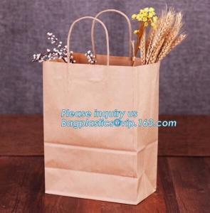 Best Wholesale kraft paper bag for bakery bread paper bag for bread,Carbon Branded Shopping Bread Brown Craft Paper Bag, PACK wholesale