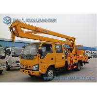 Quality ISUZU 600P 130hp High Altitude Operation Truck  , 16M Aerial Platform Truck wholesale