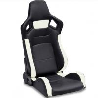 Best PVC Adjustable White And Black Racing Seats / Sports Car Seat with single slider wholesale