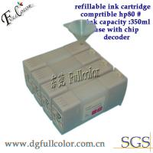 Best Custom 350ml Bulk Refillable Ink Cartridge With Chip For HP Printer 80 wholesale