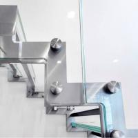 Side Mounted Tempered Glass Stainless Steel Standoff Stair Railing