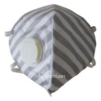 Best Gray and White Stripes Nonwoven Face Mask with Valve wholesale
