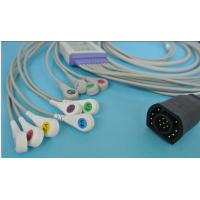 Cheap ZOLL 10 lead patient ekg cable; Reusable EKG Cable with leadwires for sale