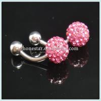 China Shamballa bracelet 316l surgical navel belly rings jewelry on sale