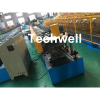 Best 1.0-3.0mm Coil Thickness , PLC Frequency Control Guide Rail Cold Roll Forming Machine wholesale