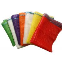 China Plastic , PE , PP Woven Industrial Mesh Bags 50kg For Onions And Eggplant Orange Color on sale