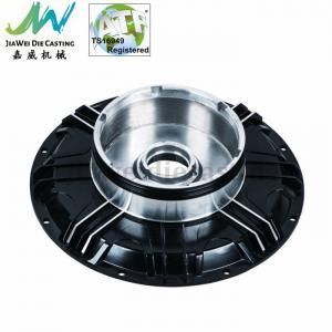Best Black Powder Coated Machined Aluminum Parts , Electric Motorbike Hub Alu Die Casting Cover wholesale