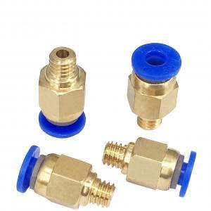 Best Golden Blue PC4 M5 PC4 M6 3D Printer Accessories Pneumatic Connectors wholesale