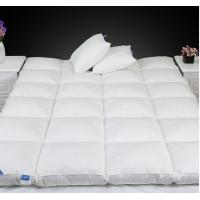 Best Queen Size Luxury 0.9D Microfiber Fill Baffle Boxes with Lining Mattress Topper for Home / Hotel wholesale