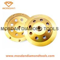 Cheap 180mm Diamond PCD Grinding Cup Wheels with 9x1308 PCDs for sale
