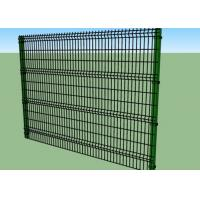 Best 1.8m Height Vinyl Coated Welded Wire Fence Panels 4.0 / 5.0 / 6.0mm Wire Diameter wholesale