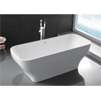 Cheap Modern Acrylic Free Standing Bathtub Single / Double Ended Tub Roll Top Thin Edge for sale