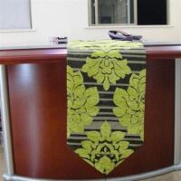 Best Table runner with flower designs chenille jacquard wholesale
