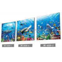 Best Sea World Pictures Lenticular Printing Services 3D Picture House Decoration wholesale