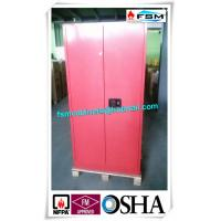 Best 45 Gallon Red Flammable Goods Storage Cabinets Lockable For Paints And Inks wholesale