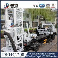 Best DFHC-200 Truck Borehole Drilling Machine for water well with mud pump wholesale