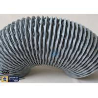 Buy cheap PVC Coated Fiberglass Fabric Flexible Air Ducts 200MM Grey Waterproof Fireproof from wholesalers