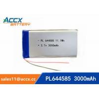 Best 644585 pl644585 3.7v 3000mah battery li-polymer type 3Ah full capacity battery for miner lamp wholesale