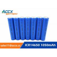 Buy cheap 3.7V lithium rechargeable battery ICR14650 1100mAh 14650 li-ion battery for toy from wholesalers