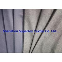 Best Uniform Stretch Polyester Wool Twill Fabric in Charcoal Melange Grey Color wholesale