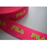Best Spandex / Polyester Eco - Friendly jacquard elastic band , Jacquard elastic straps wholesale