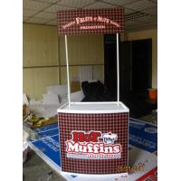 Cheap Portable Trade Show Display Counter For Advertising Promotion PP ABS Aluminum Materials for sale