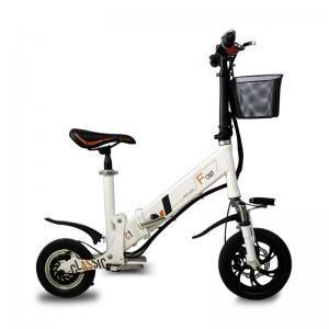 Best TUHUAN Aluminum Collapsible Electric Bike Portability Black / White 120kg Load Bearing wholesale