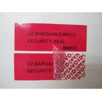 Buy cheap Anti-theif Glasine Paper /  Polyerster Film Low Residue Tamper Evident Security Labels from wholesalers